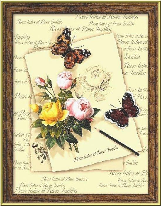 Риолис РТ-0001 Бабочки и розы