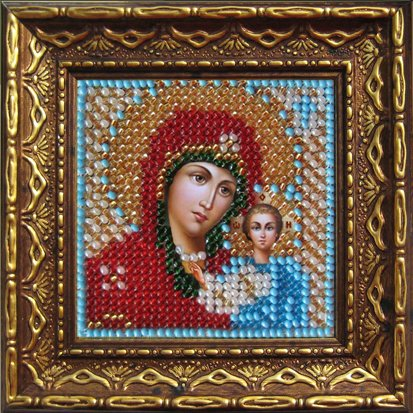 Набор для вышивания бисером Икона Божия Матерь Казанская.