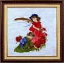 Набор для вышивания крестом Алисена 1032-1 Девочки в маках