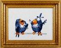 Набор для вышивания крестом Алисена 1021 Про птичек 3