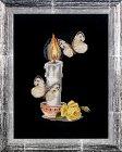 Набор для вышивания крестом Алисена 1086 Свеча с бабочками - комплект